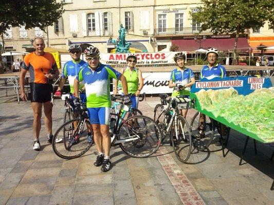 bcmf limoux depart de la cyclo montagnarde de Limoux le 18 juillet 2015