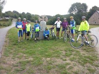 cyclo découverte du 16 août Croix des templiers à Courteix.