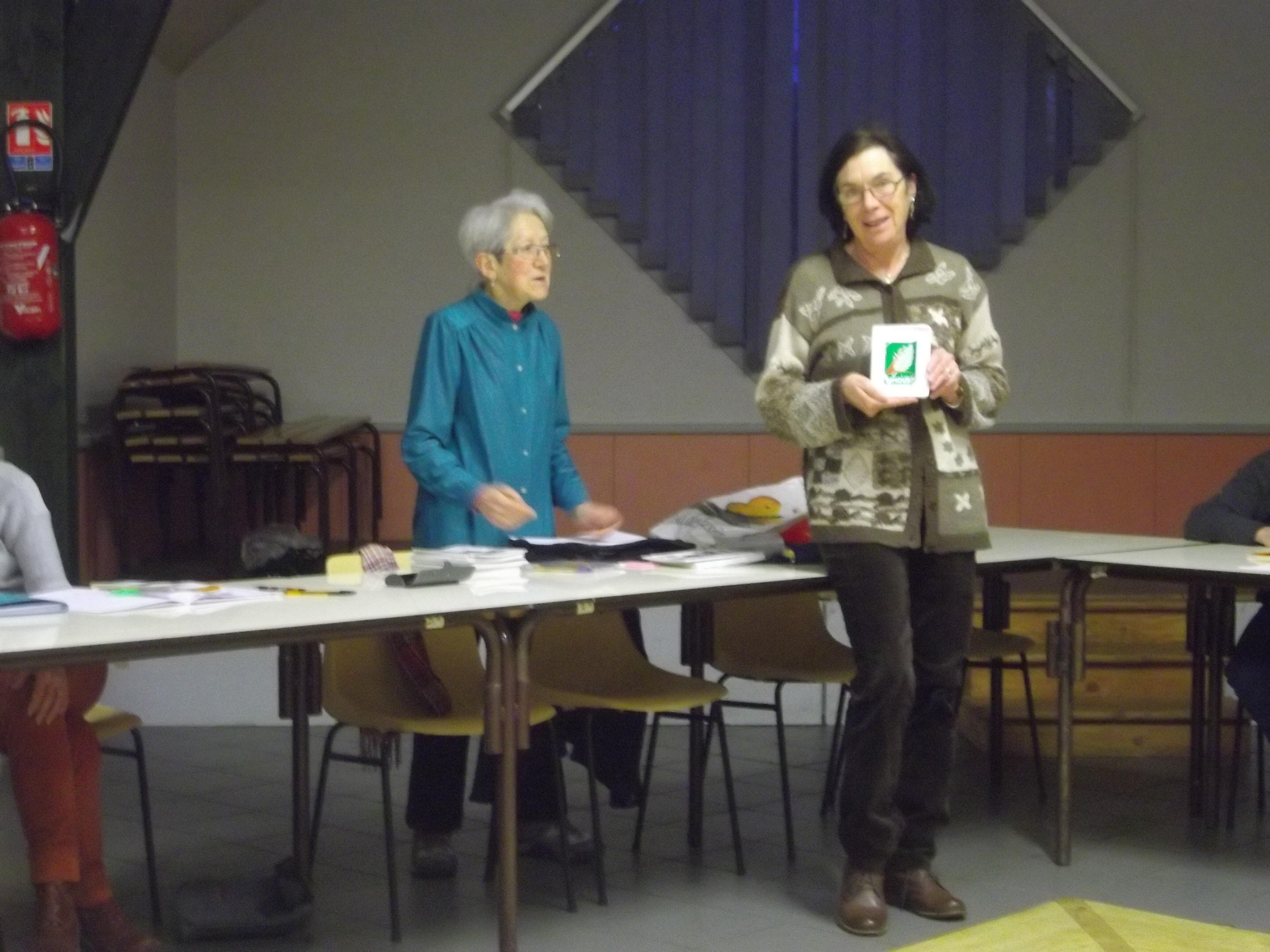 Remise du trophée du Limousin à Agnès lors de la soirée crepes